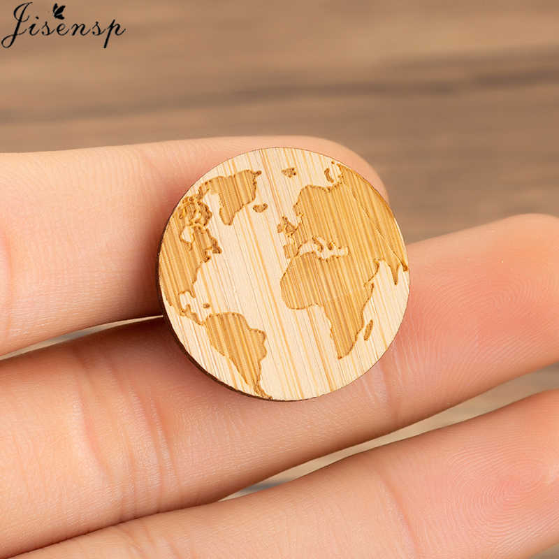 Jisensp Novelty World Travel Earth Map Pins Brooches Wanderlust Badge Brooch Lapel Pin Jeans Shirt Gothic Jewelry Women Gift