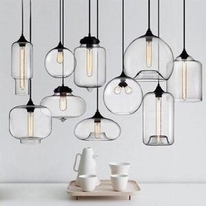 Image 5 - Nordic moderno colorato ciotola di vetro lampade a sospensione E27 loft lampade a sospensione per la cucina soggiorno camera da letto ristorante hall hotel