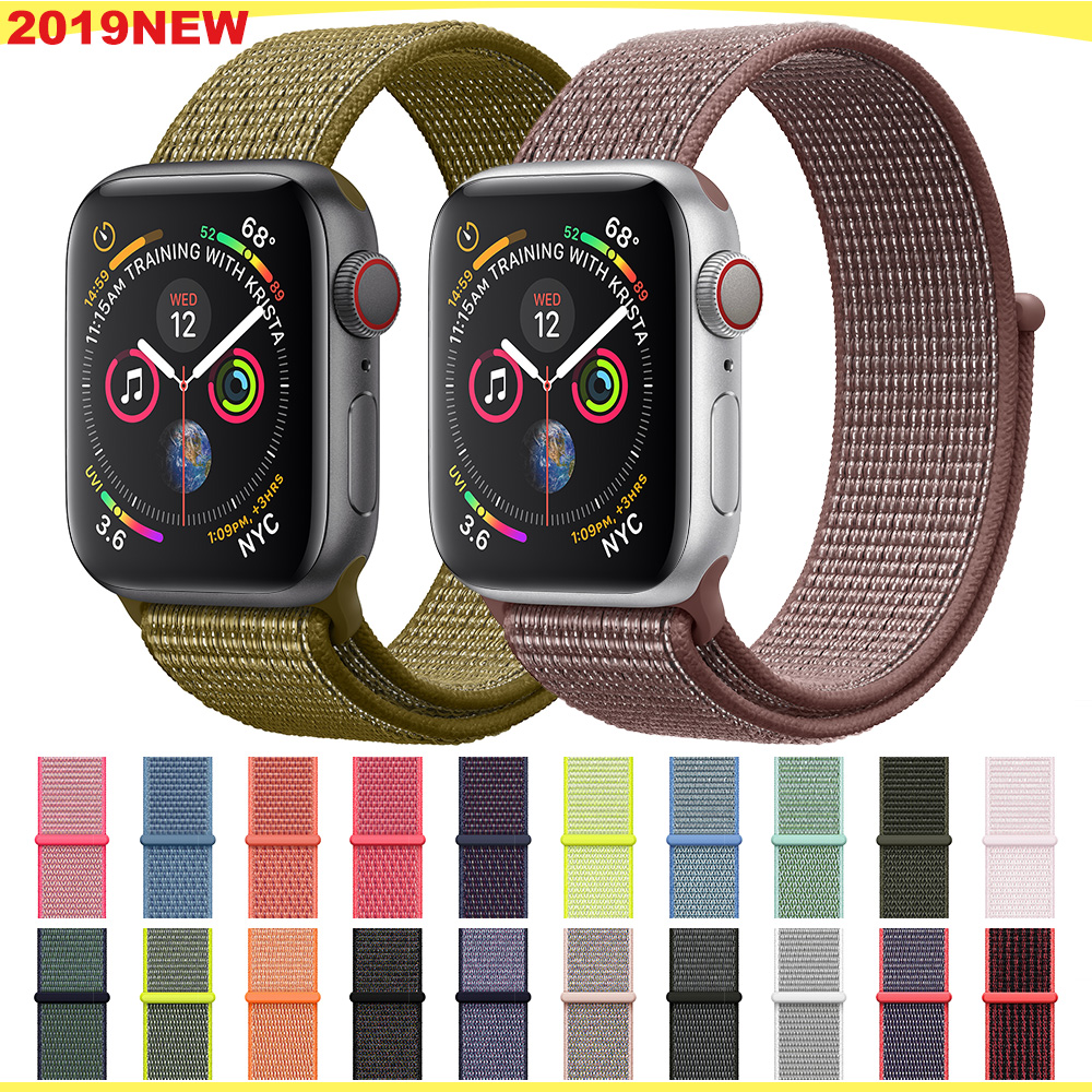 Velcro Sport Loop Strap For Apple Watch Band 5 4 3 Iwatch Band 44mm 40mm Correa Apple Watch Bracelet Watch 42mm 38mm Accessorie