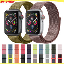 Velcro Sport Loop สำหรับ apple watch band 5 4 3 iwatch band 44mm 40mm correa apple watch สร้อยข้อมือนาฬิกา 42 มม.38 มม.Accessorie(China)