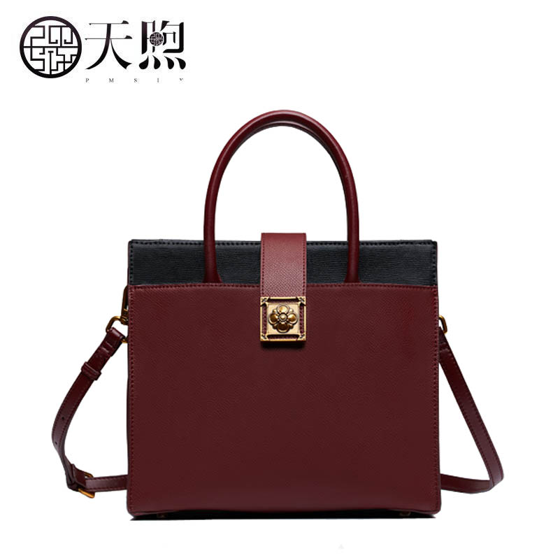 New women Leather bags fashion Stitching luxury tote handbags designer women bag leather handbags Crossbody bags new women leather bags fashion embroider flowers luxury tote handbags designer women bag leather handbags crossbody bags