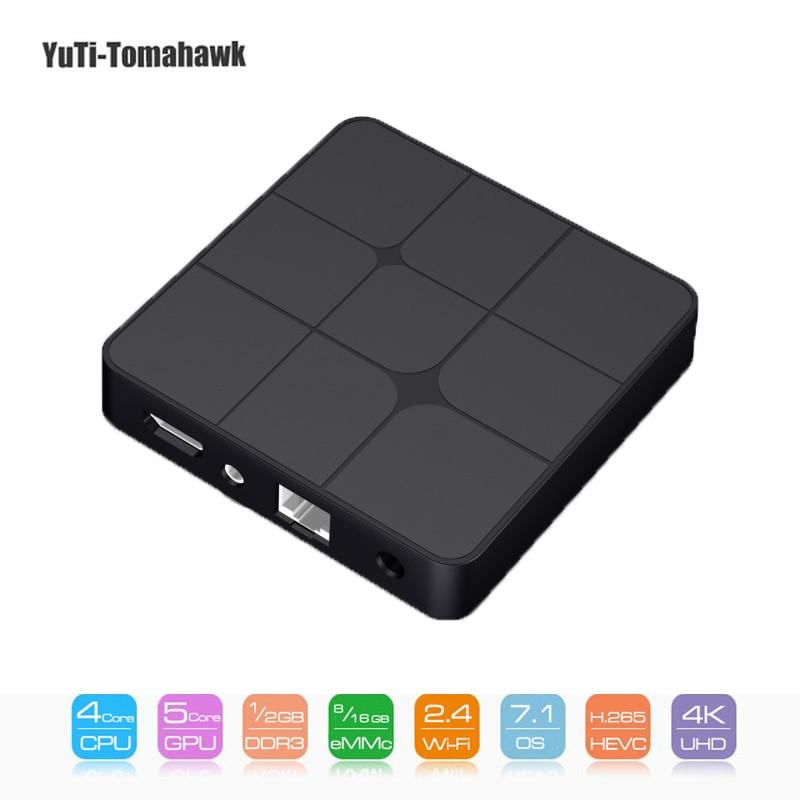 T96 Mars Smart TV Box Android 7.1 S905W Set-Top Box WiFi 4K VP9 H.265 DLNA HD2.0 Media Player Like Mini PC