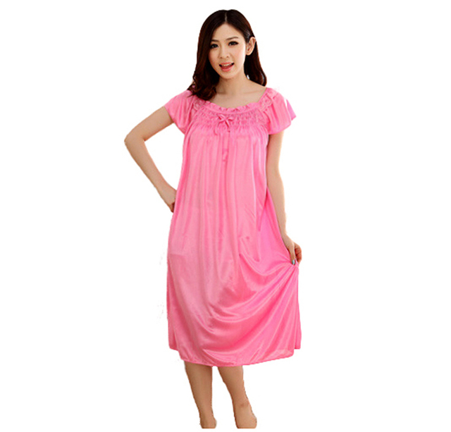 221c0c613 Seda larga camisón camisones noche vestido camisones camisón de bata batas  para mujeres albornoz vestido sexy