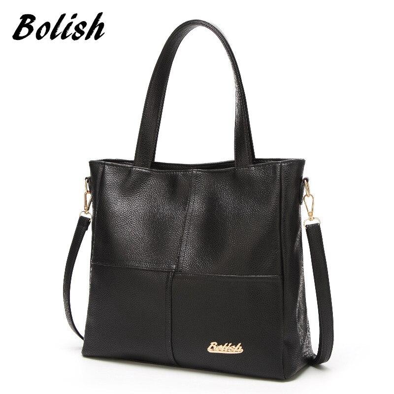 Bolish Для женщин повседневные PU сумочка женские дизайнерские высокое качество сумка Лоскутная все назначения сумка для ежедневных покупок
