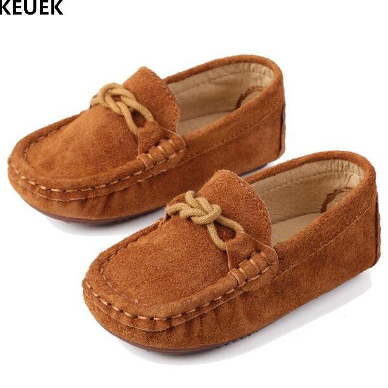 78b6d26b880ae Nouveau printemps automne chaussures en cuir véritable enfants bébé bambin  mocassins garçons filles décontracté respirant