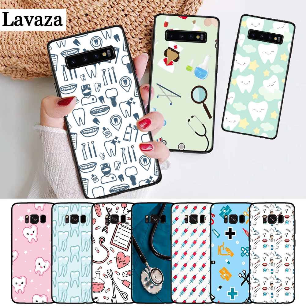 Lavaza Nurse Medical Medicine Heart Silicone Case for Samsung S6 Edge S7 S8 Plus S9 S10 S10e Note 8 9 10 M10 M20 M30 M40 in Fitted Cases from Cellphones Telecommunications