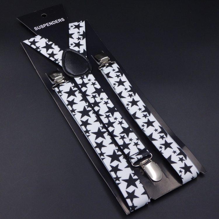 New Fashion 2.5 cm Wide New Men Women Unisex Clip-on peony Suspenders Elastic Braces