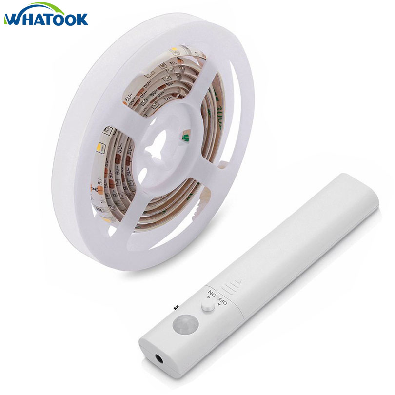 10pcs Dual Mode Led Strip Sensor Waterproof Night Light Automatic Motion Activated Indoor Wall Security Lamp