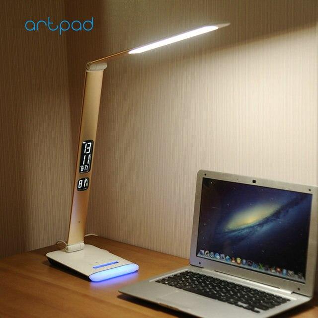 artpad новый бизнес регулируется, настольная лампа работы управления во главе с откидными настольных ламп с RGB базы в календаре