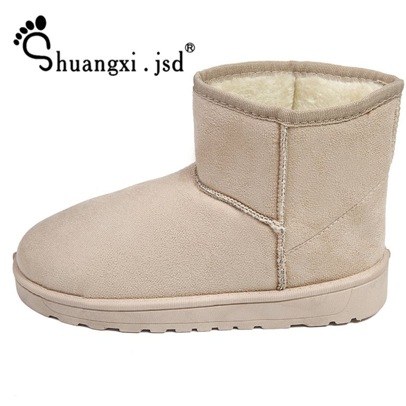 Snow Boots 2018 Winter Women Ankle Boot Fashion Plus Size High Quality Flat Booties Keep Warm