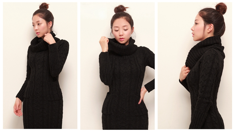 OHCLOTHING 19 European winter wool knitting female thickening noble temperament self-cultivation long bottom Sweaters 27