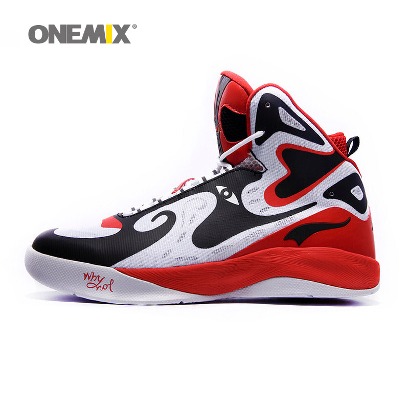 Onemix unique design men's basketball shoes original men's sneakers athletic sport shoes size US7-US12 original li ning men professional basketball shoes