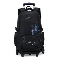 Latest Removable Children School Bags With 2/6 Wheels Kids boys girls Trolley Schoolbag Luggage Book Bags Wheeled Backpack