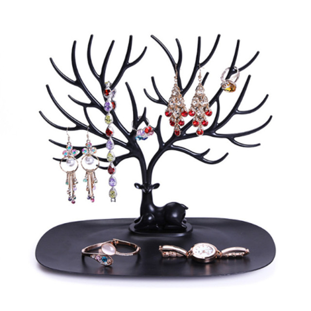 2017 Fashion Jewelry Necklace Earrings Rings Deer Stand Display Organizer Holder Show Rack