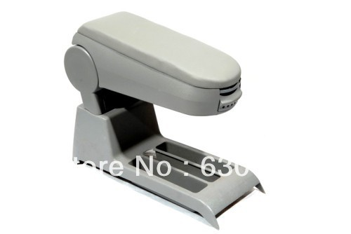 Center Console Armrest (Leatherette Grey) For VW Volkswagen Polo 9N