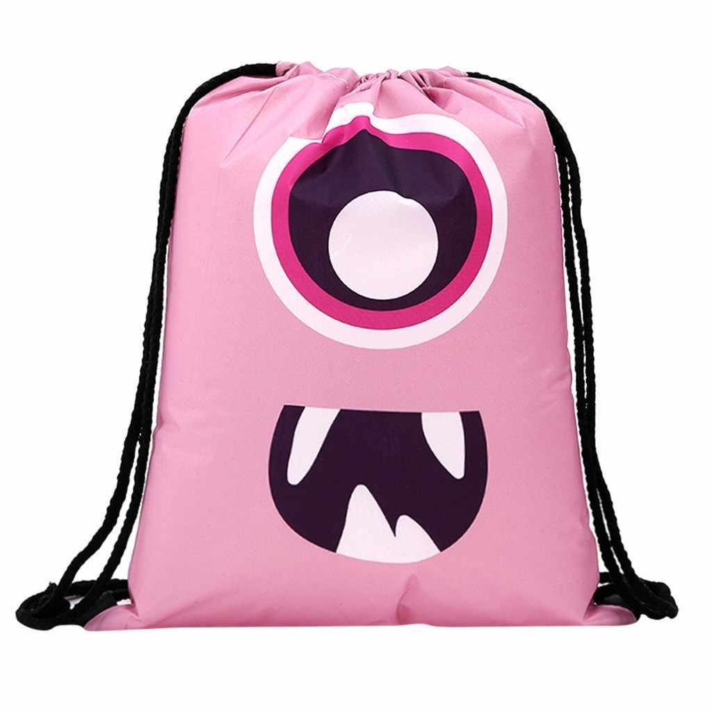 Altbest Для женщин рюкзак для хранения комплект веревок забавные милый рисунок сумка-мешок для покупок цветочные милые Строку Мешок Drawstring # Y40