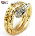 2015  NEW FASHION punk exaggerated fashion multilayer full drill snake bracelets & bangle for women