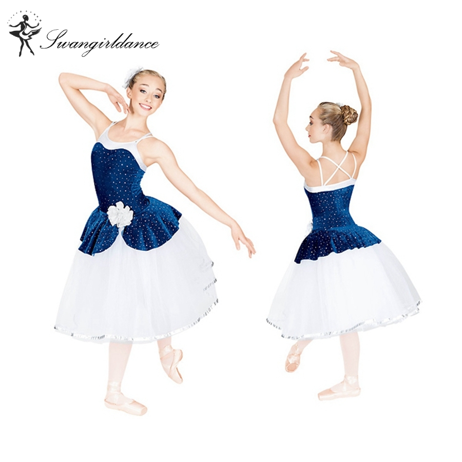 sleeping beauty stage performance romantic dress girls ballet costume tutu dress ballerina blue tutu BL0006