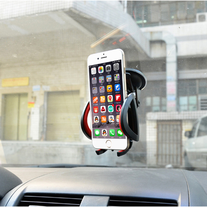 Multi function universal suction cup car mobile phone navigation bracket small joint automatic lock car bracket