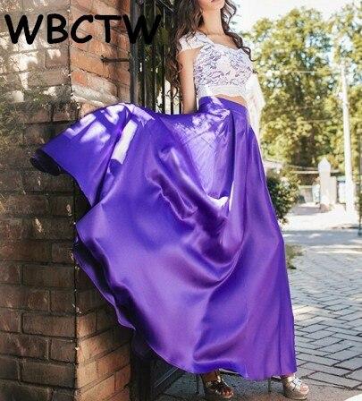 WBCTW Maxi Strandrokken 2018 Hoge taille Elegant XXS-10XL Plus-maat - Dameskleding