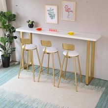 Скандинавский барный стул из кованого железа ins креативный обеденный стул твердый деревянный барный стул ровные цилиндры стул кафе назад высокий стул
