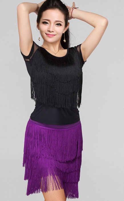2018 لينغ تشى جديد الرقص اللاتينية الرقص ملابس الكبار الإناث الجسم مهدب تنورة ازياء والرياضية