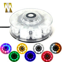 Magnetic mounting 12V 10W Car Auto LED Round Beacon Emergency Strobe Flashing Warning Police Lights Round Car Roof Lightbar