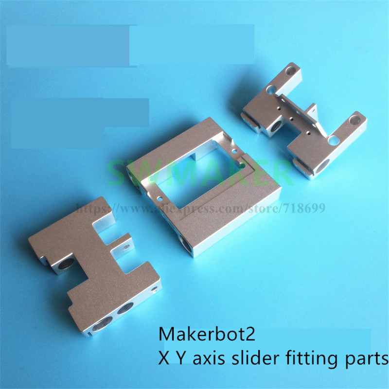 3D printer MK10 parts Aluminum X axis metal Extruder Carriage LM8UU Y axis carriage kit For MK2 CTC Flashforge Upgrade|extruder carriage|metal extruders|parts 3d printer - title=