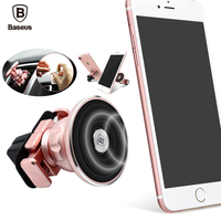 Baseus Aromatherapy Car Magnetic Mobile Phone Holder Empty Perfume Metal Aluminum Magnet 360 Degree Air Vent