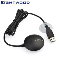 Eightwood Car Globalsat BU 353S4 USB GPS Receiver Chipset SIRF Star Antenna Navigation Laptop for Audi BNW