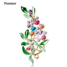 c02a67f42 Luxury Bijoux Large Enamel Esmaltes Leaf Flowers Brooches Epoxy Corsage  Wedding Broach Bouquet Hijab Pin Broches Party Women Lot