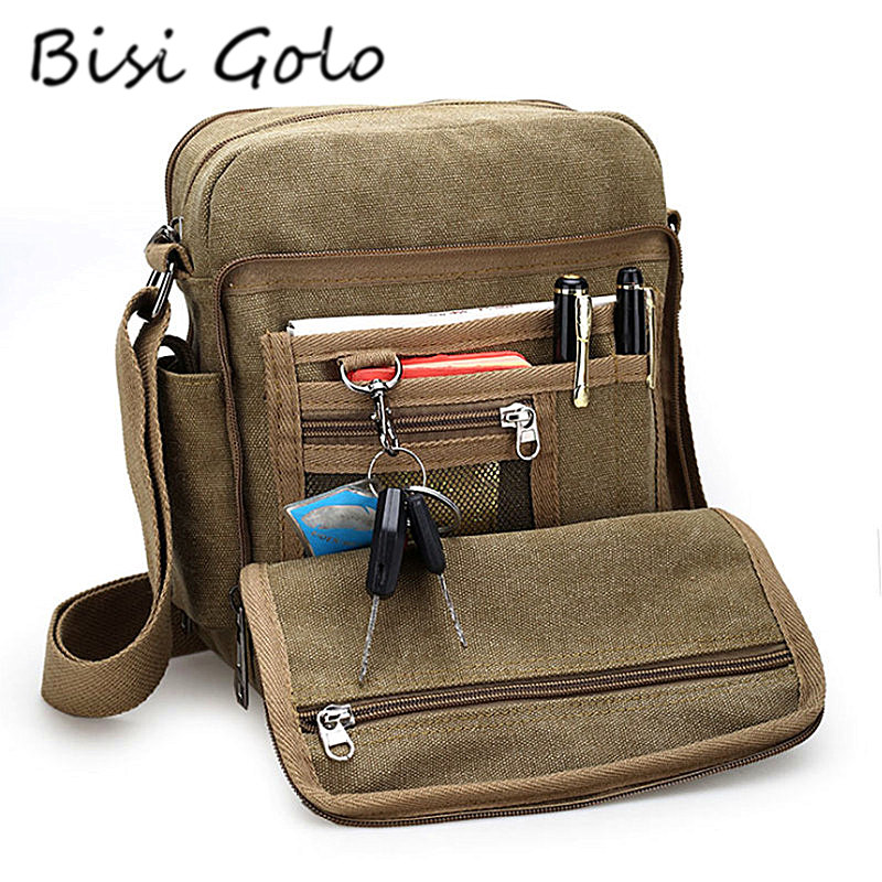 BISI GORO 2018 New Messenger Bag Men High Quality Men Canvas Bag Casual Travel Men's Crossbody Bag Luxury Men Messenger Bags high quality casual men bag