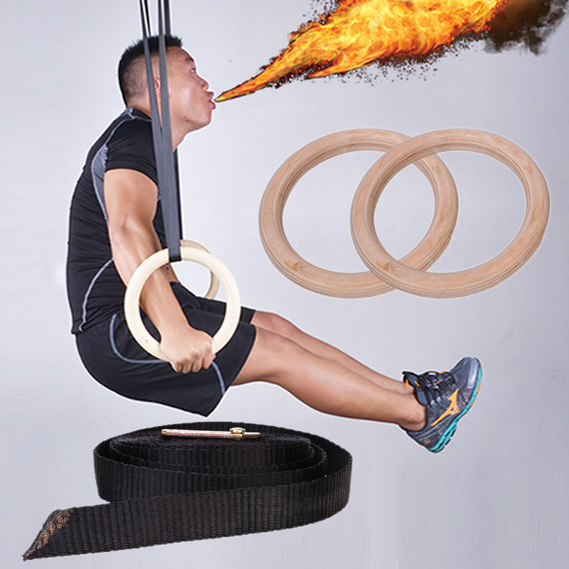 Gymnastic Ring 2018 Rings Wooden Exercise Fitness Gymnastic