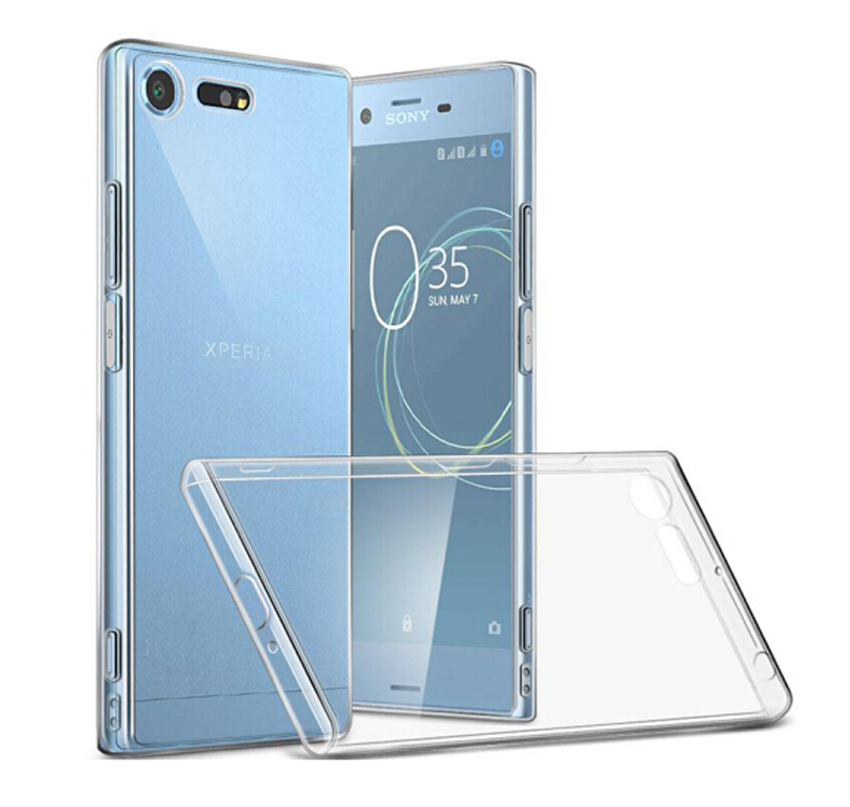 Dreamysow Case Transparent For Sony Xperia XZ1 XZs Z5 Compact XA1 Ultra Plus X XA XZ XZ Premium Plus L1 Z3  Soft TPU Cover(China)
