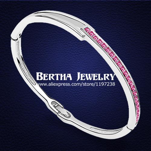Estilo europeu Bracelet Pulseras Bangles com Cristal Swarovski Elements Cristal Bijoux Armbanden En Armbanden charme jóias