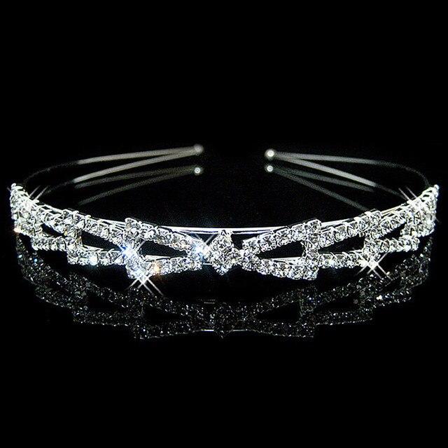 Leliin Bridal Wedding Bride Prom Tiara Headband Crown Flower Girls headpiece Hair Accessories Hairbands