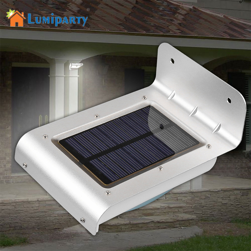 lumiparty 24 led motion sensor light waterproof solar powered lamp wall mount lamp night light. Black Bedroom Furniture Sets. Home Design Ideas