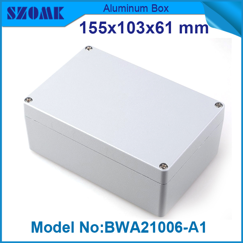 ФОТО 1 piece free shipping aluminium box extrude waterproof underground junction box fit pcb size 61x103x155MM