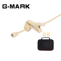 G MARK High Quality Omnidirectional Beige Tie Clip Lapel Lavalier Microphone for Wireless Transmitter skin color with pack box