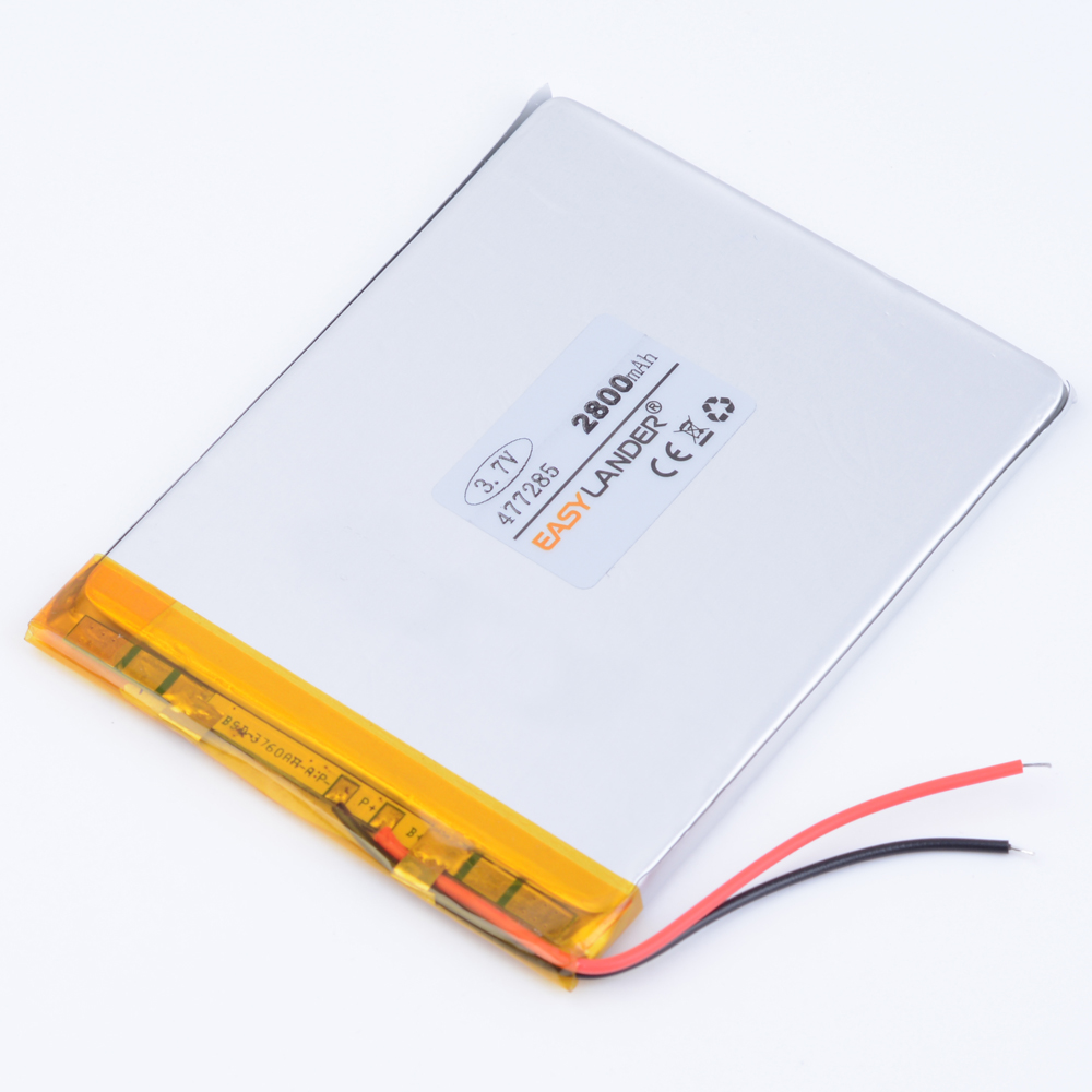 3.7V 2800mAh Polymer Li-ion Battery For Bluetooth Notebook Tablet PC iPAQ E-Book Power Bank Portable aigo M60 M603 M608 477285