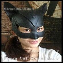 2016 Halloween Party Cosplay Catwomen Mask Girls Women Sequin Masquerade Show Masks