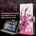 O teste padrão colorido couro magnetic fique capa flip case para microsoft lumia 640 dual sim/640 lte