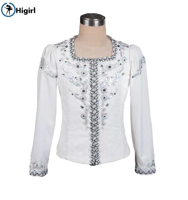 Chàng trai trắng bạc chuyên nghiệp biểu diễn múa ba lê trang phục của nam giới hiệu suất outwear nam ba lê áo jacket competitionBM0005