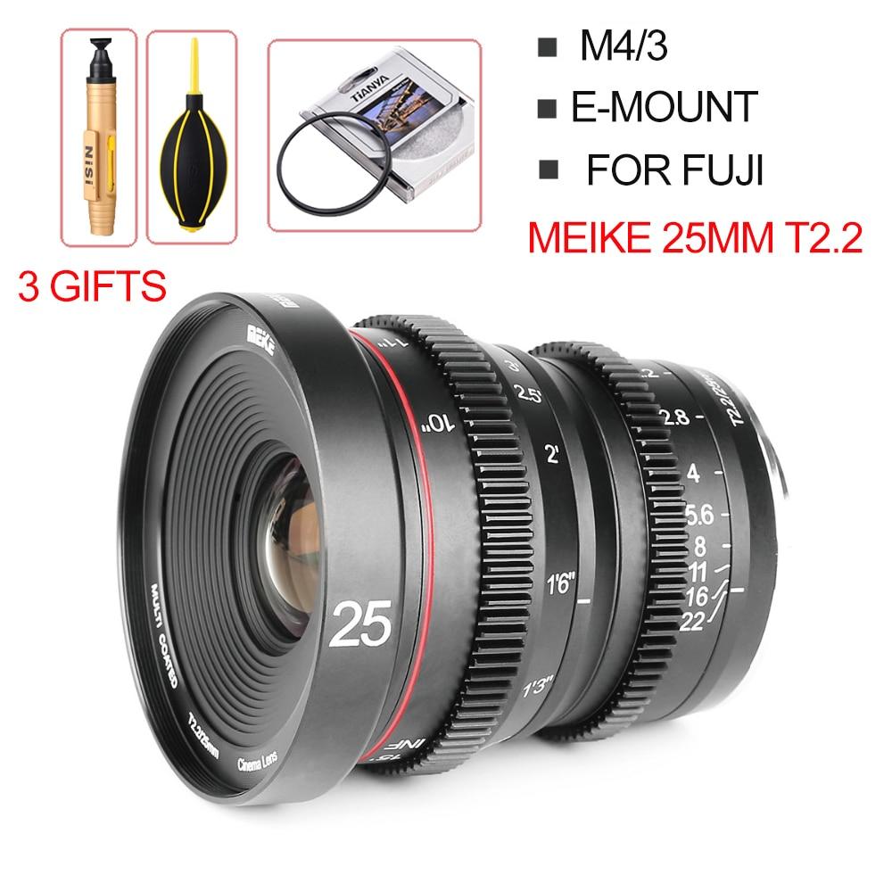 Meike 25mm T2 2 Manual Focus Portrait Cine Lens For fuji X Mount For Olympus Panasonic