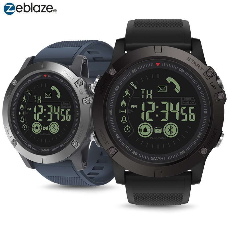 Bluetooth 50m Waterpproof Smartwatch Zeblaze VIBE 3 Sports Smart Watch 33 Months Long Standby Man Watch For IOS And Android 2019