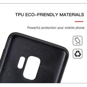 Image 4 - Kılıf için Galaxy S9 kılıfı sıkıntılı hakiki deri kapak sert koruma iş Capas Samsung S9 darbeye dayanıklı arka kapak