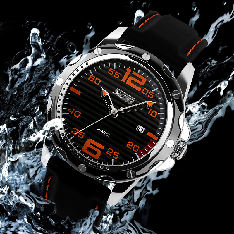 2016 Top Brand SKMEI Fashion Digital Leather Quartz Men Casual Watch For Men Dress Wristwatch 30M Waterproof relogio masculino new famous brand skmei fashion leather strap quartz men casual watch calendar date work for men dress wristwatch 30m waterproof