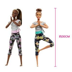 Image 5 - 7 stil Original Barbie Mode Trends Blume Hosen Yoga Puppe Alle Gemeinsamen Bewegung Gymnastik Tänzerin Maß Zu Bewegen Barbie Puppe spielzeug