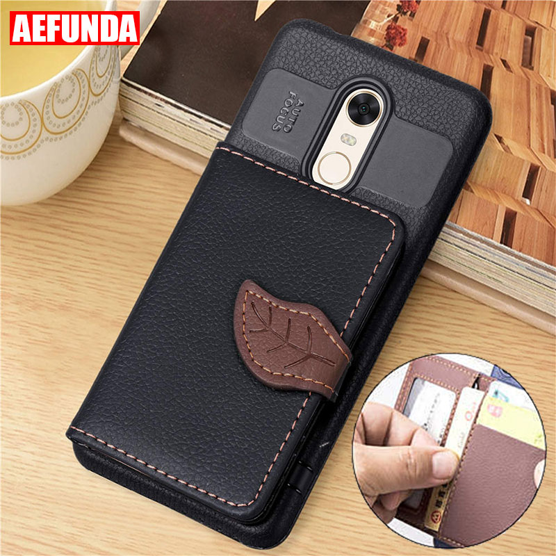 Phone-Case Wallet Credit-Card-Slot Lite Xiaomi Redmi Prime Note-4 5-Plus For 5-plus/4x6a/Note-4/..