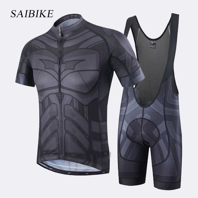Super Hero Iron man Superman Spiderman Batman cycling jersey men short long cycling  clothing roupa 8c1559d64